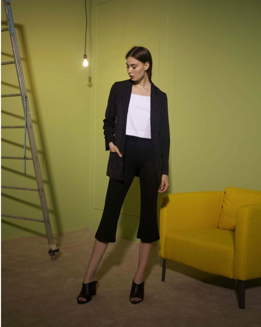TWIG CROPPED FLARE PANTS
