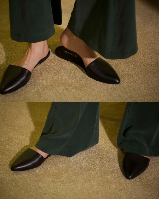 NOBLE POINTED FLAT MULES