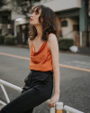 SOLACE TOP BURNT ORANGE